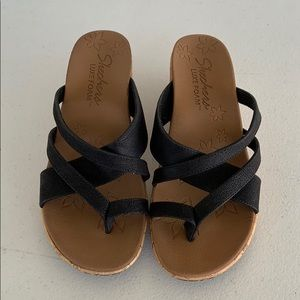 Skechers Luxe Foam women's wedge sandals